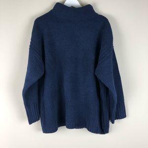 CATHERINE MALANDRINO Navy Blue Pullover Sweater 2X